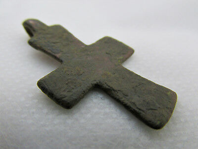 Authentic Antique Byzantine Bronze Cross circa 9th - 12th century 8