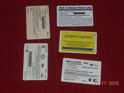 COLLECTIBLE  Phone Cards (5) ET, JETSON, STACKHOUSE, CARTER, & FLOYD 2