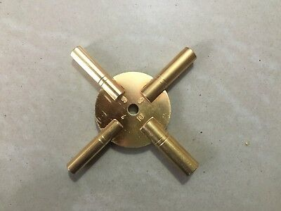 MASTER Key for all ANTIQUE CLOCK - BRASS -Total 8 type of Key HOLE in Two piece