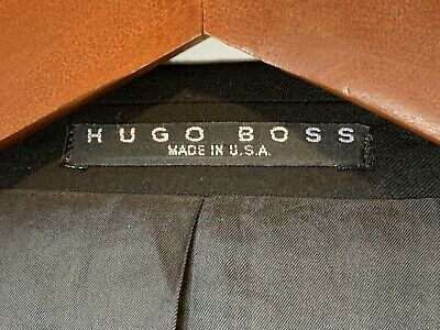 Hugo Boss Mens Size 40R Einstein Pure Wool Blazer Black Made In USA 2
