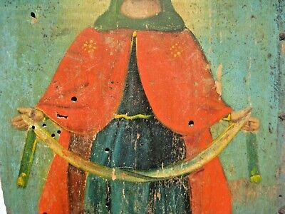 Original 19th century Antique Orthodox Icon Pokrov Russian Relic 5