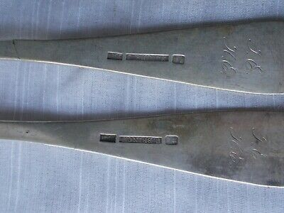 2 FREDERIK JULIUS BRINCK 1856 DINNER FORKS Norway 830 Sterling flatware 9