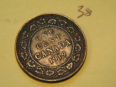 1919 Canada, Canadian Large Cent Coin , Canadian One Cent 2