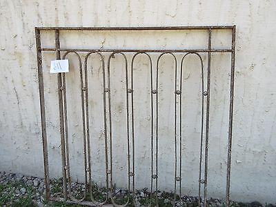 Antique Victorian Iron Gate Window Garden Fence Architectural Salvage Door #611 2