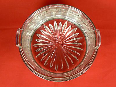 Monarch Plate Brand Ball-footed Silver Caddy w Clear Glass Handled Dish 5