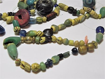 Zurqieh -Af1812-  Ancient Egypt. Lot Of Beads, Mostly Glass, Mostly Roman. 200 A 3