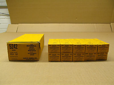 10 Nib Hubbell Hbl5242 5242 Receptacle Nema 5-15R 15A 125V 3W Brown(2 Available) 2