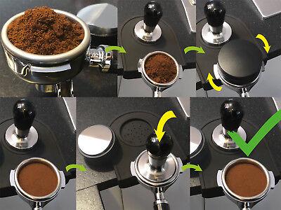 scarlet espresso Distributor »Grande DUO« verschiedene Farben 58mm Tamper Barist 7