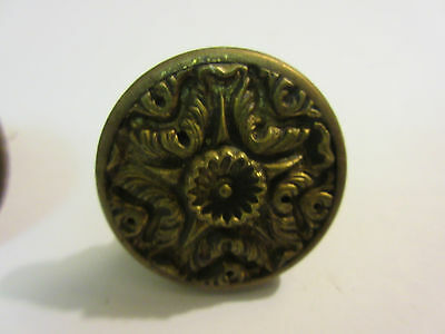 2 Vintage Regency Brass Hardware Drawer pulls Handles Dresser pierce carved 2