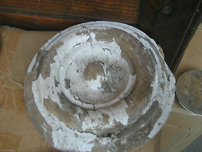 """LARGE victorian age CIRCULAR medallion embellishments OLD paint 6.25"""" dia x 1.25 4"""