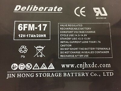 Battery 6FM-17 12V 17AH /20hr (17AH 18AH 19AH 21AH 22AH) Rechargeable 12 volt 3