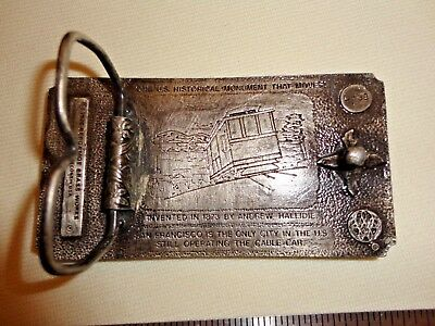 Vintage 1976 Bergamot San Francisco Cable Car Belt Buckle 2