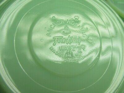 Vintage Jadeite Jadite Fire King Restaurant ware Saucers Minty Mint G-295 4