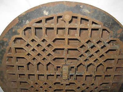 Antique Usa Architectural Home Cast Iron Heating Floor Register Vent Grate Lock 2