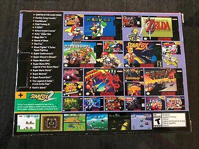 Authentic SNES Super Nintendo Classic Mini Super Entertainment System  21 Games 3