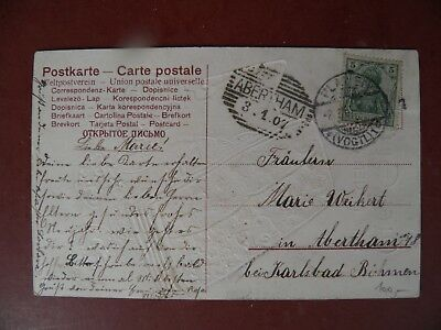 1907 Präge AK Münzen- AK  Münzkarte Geldbörse Neues Jahr