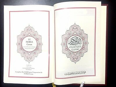 HOLY QURAN  KORAN. FRENCH TRANSLATION du Coran en français. KING FAHAD MADINAH 3