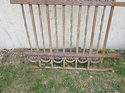 Antique Victorian Iron Gate Window Garden Fence Architectural Salvage Door #315 4