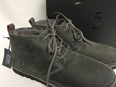 12232e62717 UGG AUSTRALIA NEUMEL Waterproof Leather Lace Up Boot Charcoal 1017254 Men's  WP