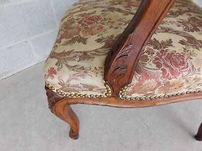 Quality Vintage French Louis XV Style Fireside Accent Arm Chairs  - a Pair 5
