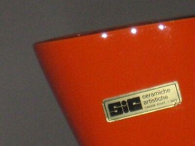Sic Ceramiche Artistiche Di Qualita' Vaso Vintage Colori Tipici Dell'epoca Anni 3