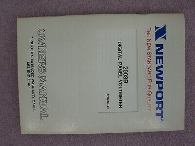 *NEW* Newport 2003B-4 D1 Digital Panel Voltmeter 7