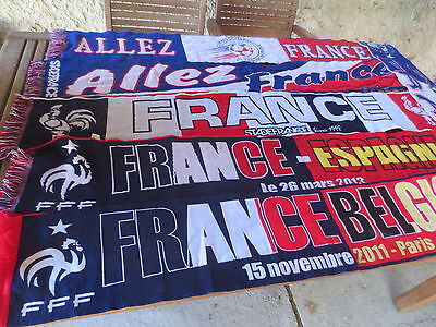 ... Lot 6 Echarpe EQUIPE de FRANCE football FFF match Belgique Espagne  supporter e00610c667c