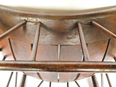 Antique Thebes Stool Wooden Egyptian Revival Arts and Crafts Period Circa 1900 9