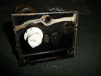 #56H antique vtg  metal door knob AS IS  with  lock 7
