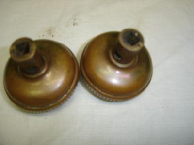Antique Pair Brass Embossed Door Knobs Copper Bronze look,  7828