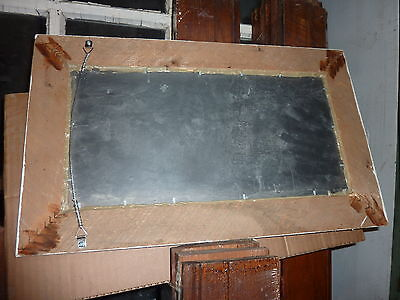 """Salvaged roof SLATE repurposed WITH salvaged molding as frame 20"""" x 12.25"""" 7"""