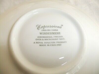 C4 Porcelain English China Royal Doulton Expressions - Windermere (1990) - 9B3B 4