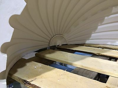2 Fluted NICHE CAP SHELLS (Handmade) Absolute Spectacular! Achitectural Plaster 8