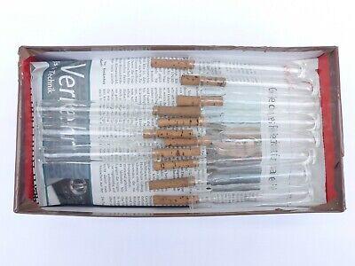 2 x alte kleine Medizin Glas Apotheke Apotheker Flasche klar lang ca. 10,2 cm 11