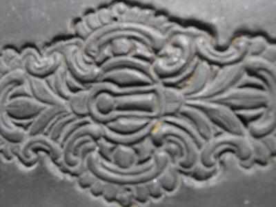 Druckstock Druckplatte Ornament aus Blei  -2- 2