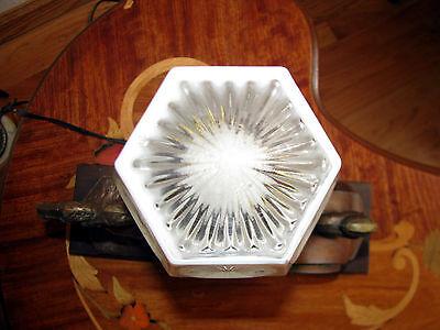 Vtg Art  Deco Frankart Era Egyptian Lamp Glass Shade Chandelier Light Fixture 6