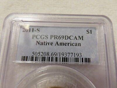 2011-S Native American Dollar coin Proof PCGS PR69 DCAM graded San Francisco 4