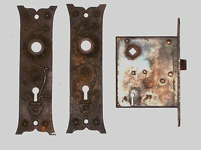 Russell & Erwin Mortise Lock With Door Knob Backplates 6