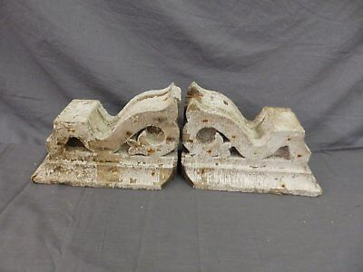 Antique Pair Corbels Wood Small Victorian Architectural Shabby Vtg Chic 517-17P 2