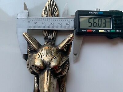 Small FOX front Door Knocker aged bronze patina heavy SOLID heavy 100% BRASS B 2