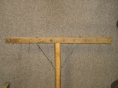 Vintage Wooden Hay Rake Hand Carved Amish Shaker Excellent Condition 2