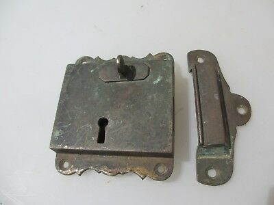 "Georgian Brass Door Lock Keep Antique Victorian Old Sri Lanka Colonial ""Galle"" 8"