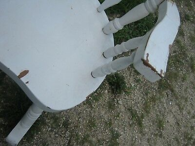Vintage Used White Adult Wood Rocking Chair Furniture good for decor only 2