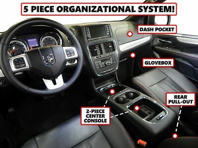 Red Hound Auto Center Console Organizer Vehicle Insert Compatible with Acura MDX 2007 2008 2009 2010 2011 2012 2013 Black Anti-Rattle Made in USA