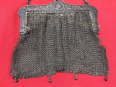 Antique Greek Pewter Womens Purse Alpacca Handbag Ladies Greece Grecia Peltro 3