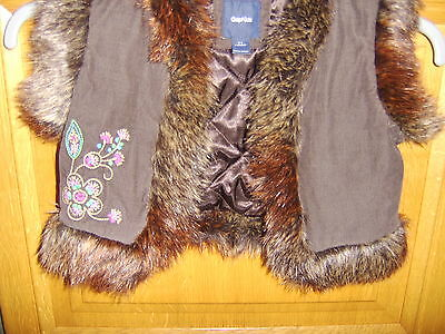 Gap Girls Lined Gilet, Age 6-7 Years, Very Good Condition 3