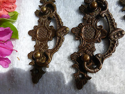 FIVE Fancy Cast bronze/brass Art Deco Decorative drawer pulls ITEM #15 3