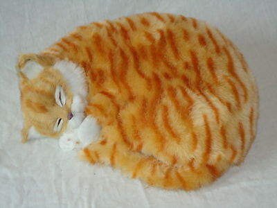 Realistic Life-Like Ginger Sleeping Cat Fooled Many People- House Trained -White 3
