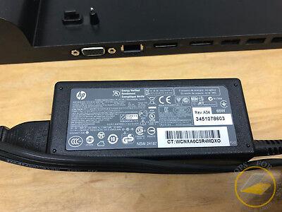 HP 90W 2013 EliteBook UltraSlim Laptop Docking Station D9Y32AA#ABA-2 x DPs + AC 3