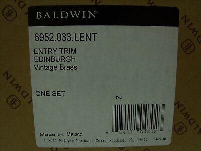 BALDWIN EDINBURGH DOOR Entrance Entry Trim Vintage Brass NEW